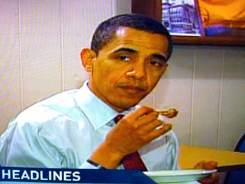 FOX: Obama Enjoys the Fried Chickens
